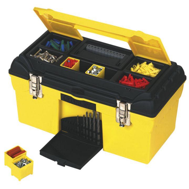 """Box p/u intrumente plastic 19"""" STANLEY 1-92-055"""